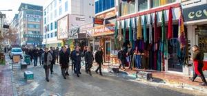 Belediye Başkan Vekili Aslan'ın sokak incelemelerine ve esnaf ziyaretlerine devam ediyor