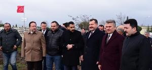 Küçük Sanayide spor tesisi temel atma töreni yapıldı