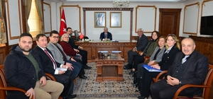 Kent Konseyi çalışma gurupları Vali Akın'ı ziyaret etti