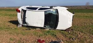 Tekirdağ'da otomobil tarlaya uçtu: 3 yaralı
