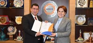 İYİ Parti Genel Başkanı Akşener AESOB'da