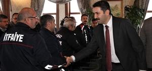 Başkan Eroğlu'ndan itfaiyecilere teşekkür ziyareti