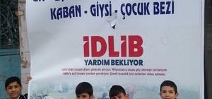 Sivaslı öğrencilerden İdlib'e yardım kampanyasına destek