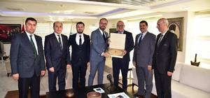 Demirci heyetinden Başkan Ergün'e OSB teşekkür