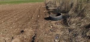 Şanlıurfa'da yol kenarına gizlenmiş patlayıcı bulundu Kamyon lastiğine gizlenmiş plastik şişeler içerisinde bilye ile güçlendirilmiş patlayıcı bulundu