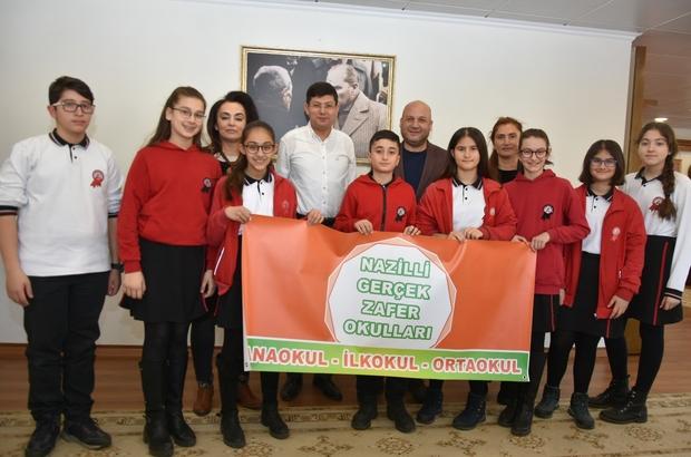 Nazilli'yi Londra'da temsil edecekler Londra yolcusu çocuklar Başkan Özcan'ı ziyaret etti