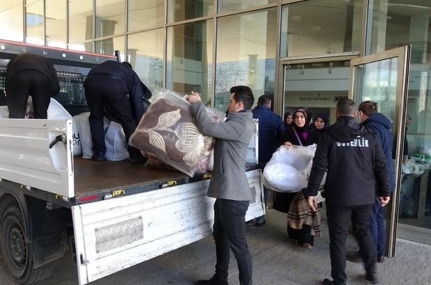 Trabzon'dan depremzedelere yardım eli