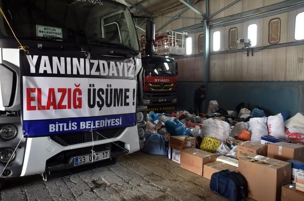 Bitlis'ten Elazığ'a yardım eli