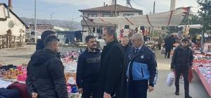 Başkan Şahin pazarcı esnafının sorunlarını dinledi