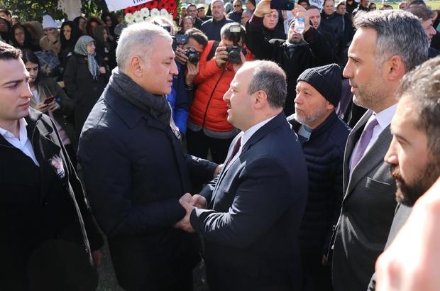 Bakan Varank, SATSO Başkanı Altuğ'un eşinin cenazesine katıldı SATSO Başkanının eşi son yolculuğuna uğurlandı
