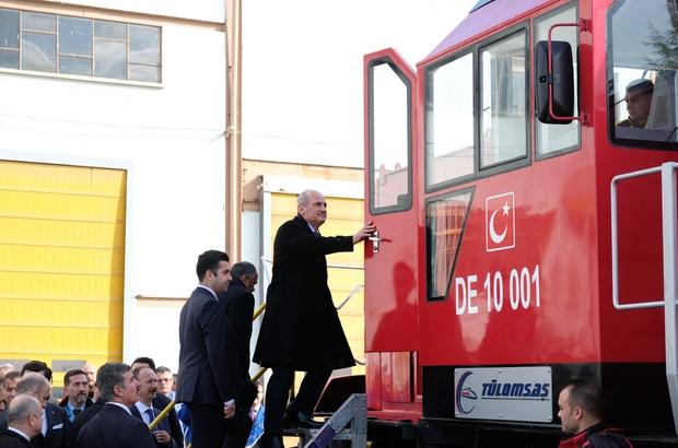 Bakan Turhan, ilk yerli ve milli dizel elektrikli lokomotifi kullandı Ulaştırma ve Altyapı Bakanı Mehmet Cahit Turhan TÜLOMSAŞ'ta
