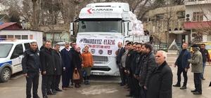"""""""Haydi Mut, Elazığ'a Ses Ver"""" kampanyası Kampanya kapsamında hazırlanan gıda, giyim, battaniye ve kişisel temizlik ürünlerinin bulunduğu yardım tırı yola çıktı"""