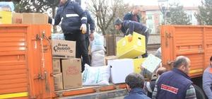 Havza'dan depremzedelere yardım eli