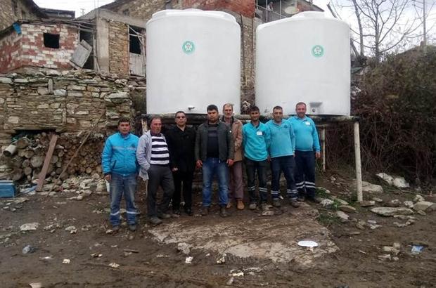 Büyükşehirden çiftçilere su deposu desteği