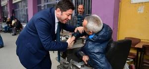 """Başkandan engellilere gönül köprüsü Altınordu Belediye Başkanı Aşkın Tören: """"Bu şehirdeki her bir ferdi sığdıracak kadar büyük bir gönlümüz var"""""""