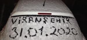 Viranşehir'de yılın ilk kar yağışı