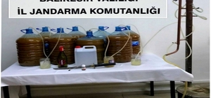 Susurluk'ta kaçak içki operasyonu