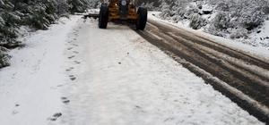 Muğla Büyükşehirden kar mesaisi