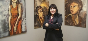 Laletaş, 3'üncü kişisel resim sergisini MTSO Sanat Galerisinde açtı