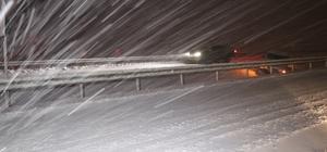 Aksaray'da etkisini artıran kar yağışı tipi ve fırtınaya dönüştü