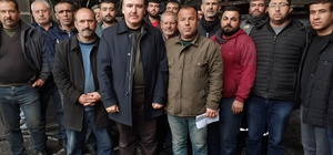 Oto sanayi sitesi esnafından örnek davranış Esnafın dayanışması Türkiye'ye örnek oldu İş yeri yanan esnafa meslektaşları sahip çıktı