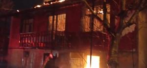 2 katlı metruk bina alevlere teslim oldu