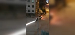 Karda kayan araçların kaza anları çığlık çığlığa kamerada Samsun sokakları buz pisti gibi