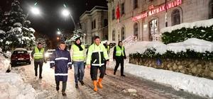 Başkan Tören karla mücadele çalışmalarını yerinde inceledi