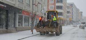 Havza'da karla mücadele