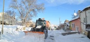 Bünyan'da karla mücadele aralıksız devam ediyor