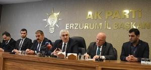 """Ak Parti Erzurum'da teşkilat için seçim startı verdi İl Başkanı Öz: """"Halkın isteklerine duyarlı bir lidere sahibiz"""" Büyükşehir Belediye Başkanı Sekmen: """"New City'in yeri satılacak"""""""