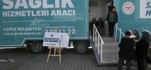 Kepez'in sağlık tırı Antalya'ya şifa dağıtmaya başladı