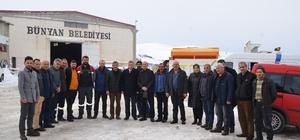 Başkan Altun ve Mahalle Muhtarlarından ekiplere teşekkür ziyareti