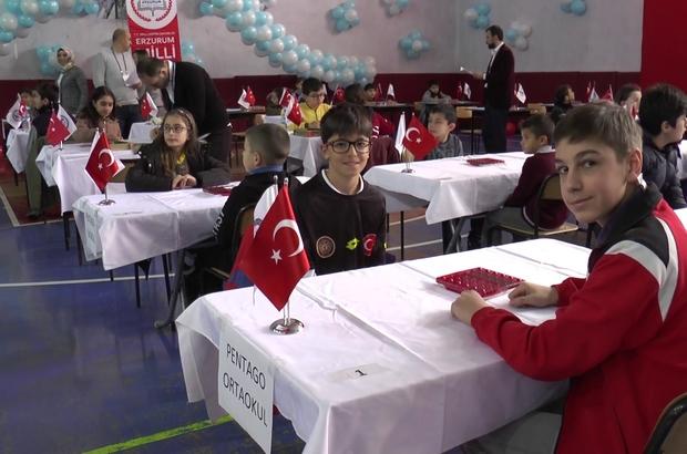 Türkiye Akıl ve Zeka Oyunları Turnuvası Erzurum'da yapıldı