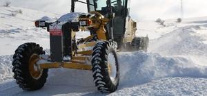 Sivas'ta kar esareti, kürlü mücadele aralıksız sürüyor