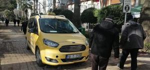 Hidrolik bariyer ticari bir taksiye zarar verdi