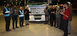 Barış Pınarı bölgesine Kumluca'dan bir tır sebze ve meyve yardımı