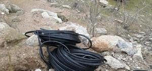 Manisa'da 75 bin lira değerindeki kabloları kestiler