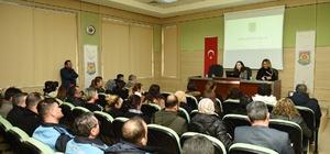 Tarsus Belediyesi personeline korona virüs anlatıldı