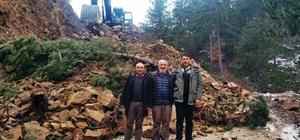 Hisarcık'ta yol genişletme ve düzenleme çalışmaları