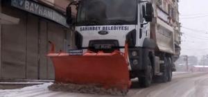 Şahinbey'de karla mücadele sürüyor