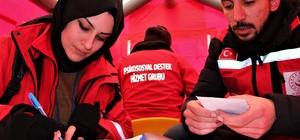 150 kişilik destek ekibi depremzedelerin gönüllerine dokunuyor