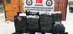 Gaziantep'te 10 bin 500 paket kaçak sigara ele geçirildi