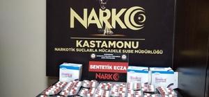Kastamonu'da durdurulan araçtan 399 adet uyuşturucu hap çıktı