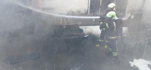 Depoda çıkan yangın kısa sürede söndürüldü Deponun yanında bulunan ev hızla tahliye edildi