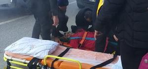 Kastamonu'da yolcu minibüsünün çarptığı yaya yaralandı
