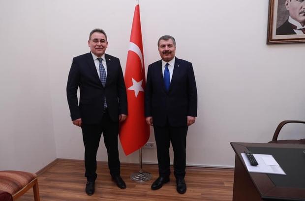 AK Parti Nevşehir milletvekili Menekşe, Sağlık Bakanı Koca'yı ziyaret etti