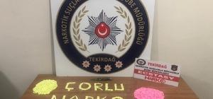 Çorlu'da 3 bin uyuşturucu hap ele geçirildi