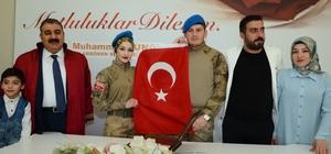 Askeri üniformayı giydiler, mutluluğa 'evet' dediler Palandöken Belediyesinde 14 Şubat yoğunluğu
