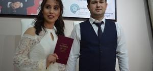 Tekirdağ'da Sevgililer Günü çılgınlığı 15 çift Sevgililer Günü'nü evlilikle taçlandırdı